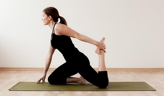 Framsida lår (stretchövning)