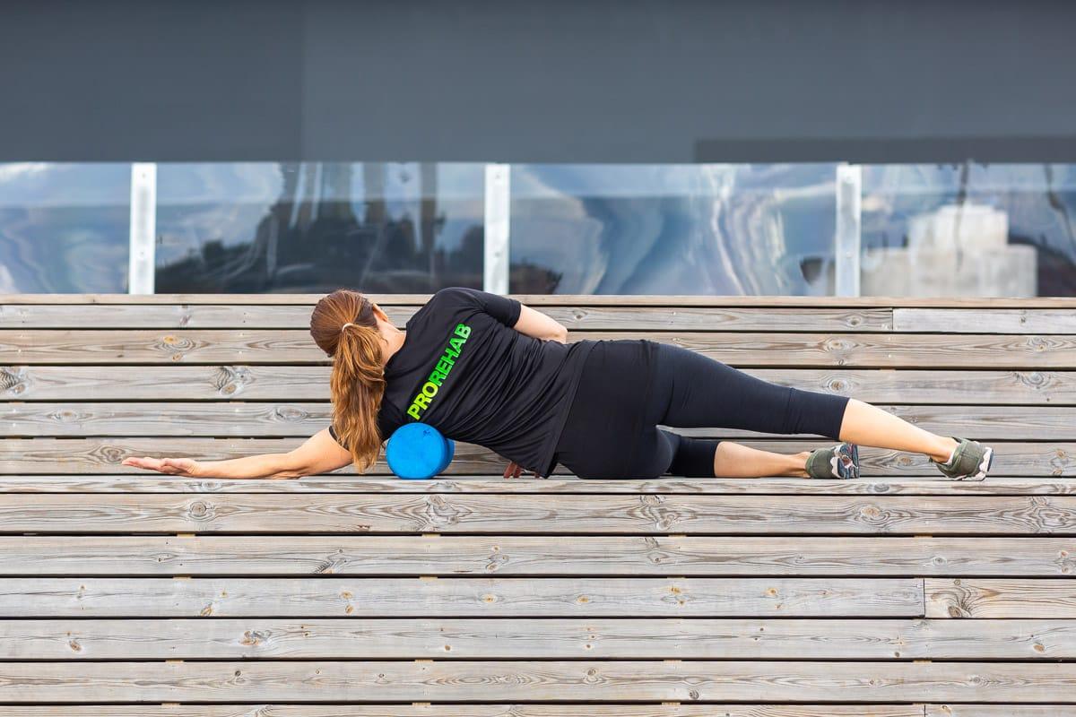 Självbehandling av stabiliserande muskler i axeln